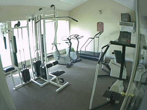 Fitness Center at these Houston Champions Apartments