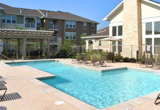 Sparkling Pool at these San Marcos TX Apartments