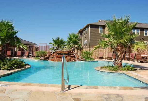 Sparkling Pool at these San Marcos Texas Apartments
