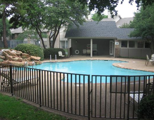 Sparkling Pool at these Addison Apartments