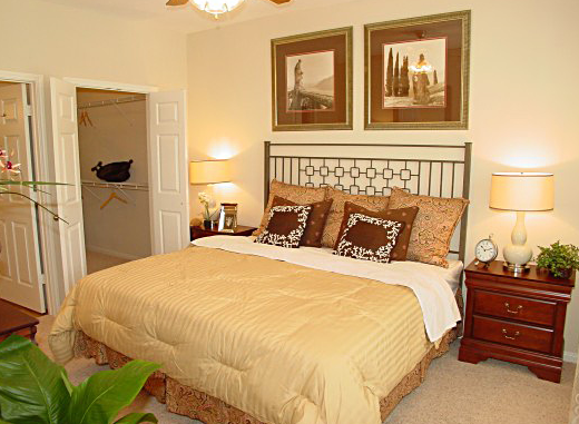 Master Bedroom at Estancia San Miguel Apartments