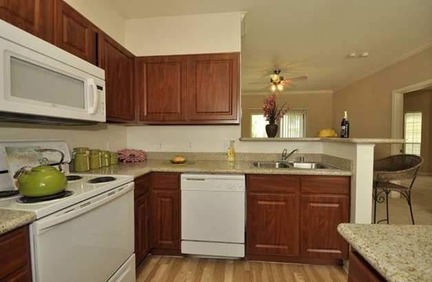 Spacious Kitchen Area at Jersey Village Apartments