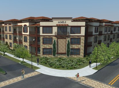 Exterior View of Las Colinas Apartments - AMLI at Escena