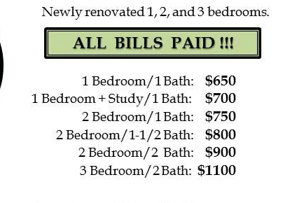 One Bedroom Apartments All Bills Paid 28 Images One Bedroom Apartments All Bills Paid