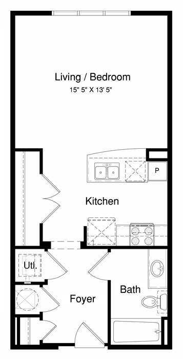 District at greenbriar apartments in houston tx 77098 Efficiency apartment floor plan