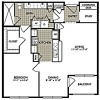 Spacious 1 Bed 1 Bath The Delight Plan at 2222 Smith Street Apartments