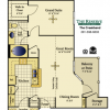Spacious 1 Bedroom Floor Plan