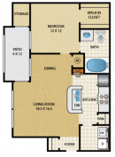 The Red River Floorplan Trails at Rock Creek Apts