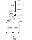 1 Bed, 1 Bath Unit A Plan for Lease at San Cierra