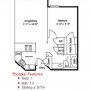 The Soho 1-1 Floor Plan