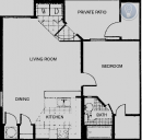 1 Bedroom Floor Plan in Round Rock, TX