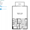 0 Bed, 1 Bath Efficiency Floor Plan Alexan Southwestern