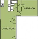 One Bed, One Bath Apartment