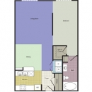 0-1 Apartment Floor Plan