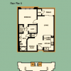 1-1 High Rise Apartment Floor Plan Layout