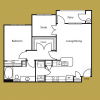 large one bedroom one bathroom apartment in round rock, wrangler floor plan at alexan palm valley, spacious 1-1 apartments round rock texas alexan pal