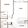 1-1 Floor Plan for Rent at The Cheval Apartments Houston TX