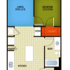1 Bedroom 1 Bathroom Apartment Rental showing Modern Amenities & Features