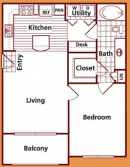 1-1 Apartments in League City Texas