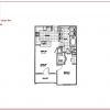 Open 1 Br 1 Bath Floor Plan at Meritage Apartments