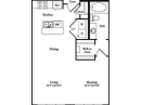 1-1 Studio Floor Plan for Lease at Lofts at the Ballpark