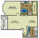1 Bed, 1 Bathroom Apartment Rental