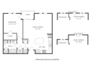 1 bedroom apartment, one bed apartment, 1 bed floor plan, 1-1 apartment, amli 2121 apartments floor plan