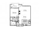 Spacious One Bed, One Bath Floor Plan