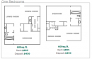 1-1 Apartments Floor Plan