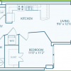 A2 One Bedroom Floor Plan at Gables Memorial Hills