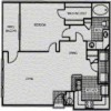 1-1 Apartment Floor Plan