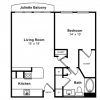 1-1 Floor Plan for Rent
