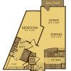 One Bedroom Spacious Floor Plan