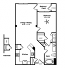 1-1 The Capri Floor Plan