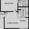 One Bedroom, One Bathroom Apartment