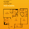 2 Bdrm 2 Bathroom Floor Plan - Alexan Sommerall