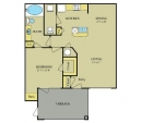 One Bedroom, One Bathroom Layout