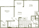 Lewisville TX Apartments Floor Plan 1-1