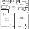 1-1 Apartment Layout for Lease in Lewisville, Texas