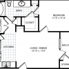 1 bedroom floor plan, broadstone walker commons apartments floor plan, apartments league city tx one bedroom