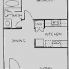 1-1 Floor Plan at Galveston TX Apartments