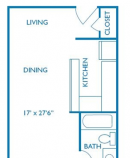 Efficiency Floor Plan in Houston, TX
