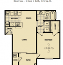 Montrose - 1 Bed, 1 Bath, 626 Sq. ft.