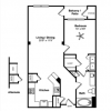 1-1 Apartment Floor Plan in Houston Museum District