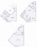 Gables Highland Park Brownstones floorplans - A1 Layout
