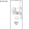 1-1 Apartment Floor Plan Phase One Yale Street Lofts