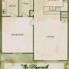 One Bed, One Bathroom Floor Plan