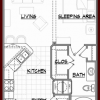 A1 Floor Plan for Rent Lofts at Briar Forest