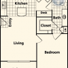 1 Bedroom Floor Plan at League City TX Apartments