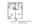 1 Br, 1 Bath Apartments Floor Plan